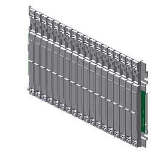 Siemens6ES7400-1TA11-0AA0SIMATIC S7-400, UR1 RACK ALU, CENTRALIZED and DISTRIBUTED with 18 SLOTS