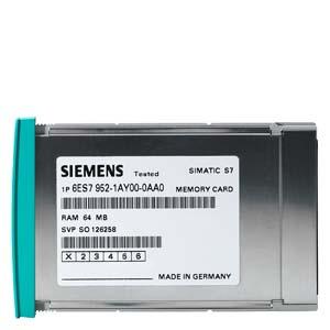 Siemens6ES7952-1KS00-0AA0SIMATIC S7, MEMORY CARD FOR S7-400, LONG VERSION, 5V FLASH-EPROM, 16 MBYTES