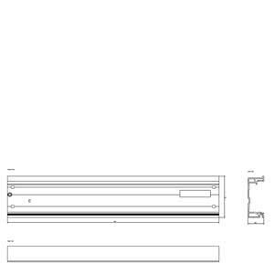 Siemens6ES7195-1GG30-0XA0SIMATIC DP, RAIL FOR ET 200M 620 MM LONG FOR BUS MODULES FUNCTION: INSERT/REMOVE