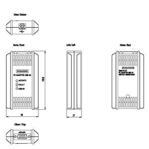 Siemens6GK1571-0BA00-0AA0PC ADAPTER USB A2 USB-ADAPTER (USB V2.0)